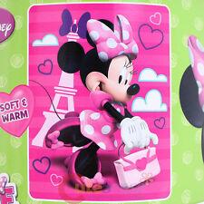 Disney Minnie Mouse Plush Blanket Microfiber Raschel Throw BowTique Travel