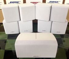 5 Bose Acoustimass Lifestyle Double Cube Speakers {1 Center Channel+4 Surround}.