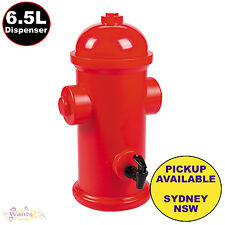 Firefighter Fireman Party 6.5l Plastic Fire Hydrant Drink Dispenser With Tap