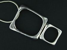 """Solid Sterling Silver Hinged Geometric Modernist Pendant Necklace 18"""" NS498"""
