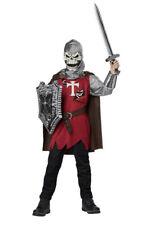 Child's Skull Knight Halloween Costume New Size Large (10-12) Medieval Skeleton