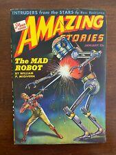 Amazing Stories Magazine Pulp January 1944