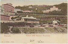 FRASCATI - VEDUTA DELLA STAZIONE FERROVIARIA CON TRENI (ROMA) 1901
