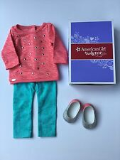 """AMERICAN GIRL 18"""" OUTFIT Cool Coral Top Leggings Shoes for Doll - NEW IN BOX"""