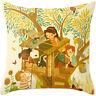 Oil Painting Cotton Linen Vintage Pillow Cases Pillow Cover Sofa Cushion Cover