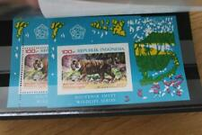 INDONESIA SGMS1492 Imperf and Perf Wildlife Miniature Sheets MNH Cat £26
