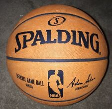 "Spalding NBA Official Game Basketball, 29.5"" Adam Silver Commissioner New!"