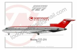 Boeing 727 Northwest  - Poster Profile