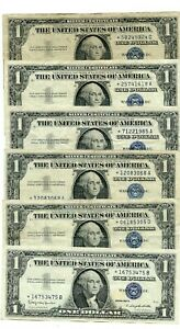 6- 1957****STAR*****  $1 One Dollar Silver Certificate   notes  53475