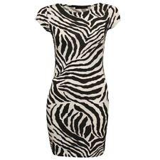 Ladies Celeb Inspired Neon Army Leopard Skull Rose Pencil Fitted Bodycon Dress Zebra Print XXL 20-22