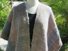 Manos Del Uruguay 100% Virgin Wool Poncho Wrap Cape Shawl Triangle Neutrals S/M