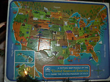 Discover and Learn United States Map Puzzle 14.5 X 11.5 Inch