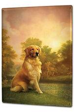 Tin Sign XXL Breed Golden Retriever nature