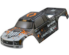 HPI 109883 NITRO GT-3 TRUCK PAINTED BODY SILVER/BLACK Savage X 4.6