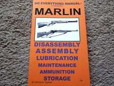 Marlin 1894, model 1895, model 336C plus others Rifle Shooters Manual 31 Pg.