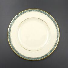 "Lenox PATRIOT 6 3/8"" Bread & Butter Plate - Green Band, 24 Karat Gold Rim  MINT"
