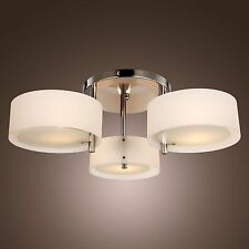 Fashion Acrylic Chandelier Ceiling 3Lamps Pendant Lighting Fixture Flush Mount