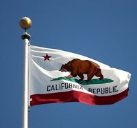 "3"" x 5"" FT Polyester California STATE FLAG Bear CA USA Grommets Banner America/"