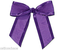 12 Purple Organza Bows Twist Ties Crafts Gifts Holiday Baskets Wedding Favors