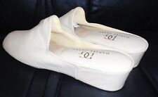 db8ecba83a DANIEL GREEN BEIGE BONE LEATHER MULES SLIPPERS SHOES 7.5 M new
