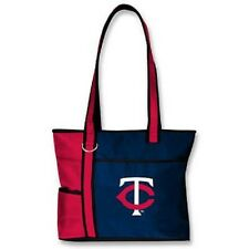 New MLB Carryall Gametime Tote Bag Purse Licensed MINNESOTA TWINS Embroidered