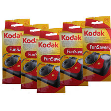 5 Pcs Kodak 35mm Funsaver Flash 800 asa One Time Use Disposable Camera 11/2018