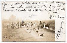 CARTOLINA 1909 SCENA DI CACCIA RIF. 6071