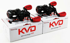 (LOT OF 2) QUANTUM PT KVD SMOKE S3 SKVD101SPT 6.1:1 LEFT HAND BAITCAST REEL