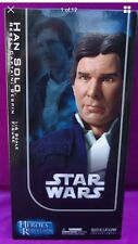 "Star Wars Han Solo Rebel Captain Bespin Sideshow 12"" 1/6 action figure doll NRFB"