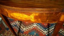 ANTIQUE AMERICAN  FEDERAL CARD TABLE W/FIGURED  PANELS UNUSUAL FORM CIRCA 1800