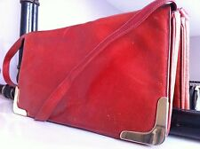 Bag Vintage Leather Russet Orange/Red Calf Leather Ladies shoulder/clutch