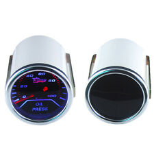 "Car Motor Smoke Tint Len 2"" 52mm Indicator Oil Press Pressure Gauge Kit Meter"