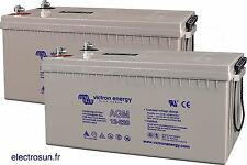 2 Batteries solaires  AGM 12V 220 Ah Victron