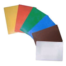 6 Color Cutting Board Yellow Red Green Blue Brown White Polyethylene 12 x 18 TH