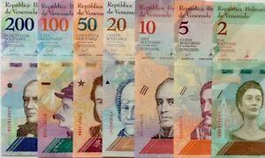 VENEZUELA 2018 2 5 10 20 50 100 200 Bolivars NEW DESIGN COLOURFUL UNCIRCULATED