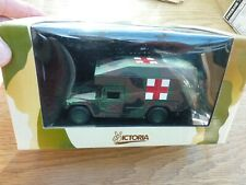 VICTORIA DIE CAST US ARMY HUMMER AMBULANCE IN CAMO R038 1/43 SCALE