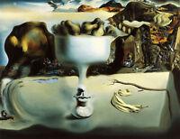 Salvador Dali phenomenon of the face reproduction 8.3X11.7 canvas print poster