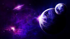 "Space Travel Universe Galaxy Star Sky Planets Futuristic-17""x22"" Art Print-00022"