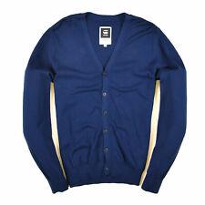 G-Star Raw Herren Cardigan Pullover Sweater Gr.L Map Knit Navy Blau 87137