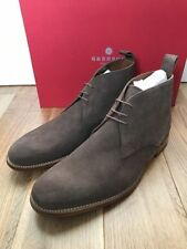 Grenson Suede Lace-up Round Toe Shoes for Men