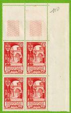 1952-Bloc de 4 timbres Neufs**Sainte Croix-Abbaye de Poitiers(15f)-Stamp.Yv.926