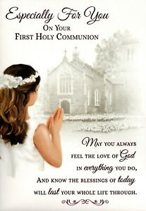 Especially For You on your First Holy Communion Card - For Her Female Girl