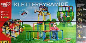 QUADRO Kletterpyramide Klettergerüst 237 Teile 9 Design kombinierbar Spielgerüst