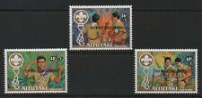 Aitutaki 1983 75th Anniv of Boy Scout Movement over printed MNH set S.G.434-436