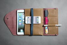 Vintage Leather Envelope Pouch - iPad Mini Case - Cards Stationery Holder