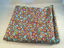 """Vintage Pink Yellow Floral Hippie Fabric 86"""" x 43"""""""