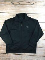 Mens Nike Air Black Athletic Track Jacket L Large Long Sleeve Zipper