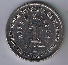 Hotel Nevada Casino $1.00 Gaming Token Ely Nevada 1989