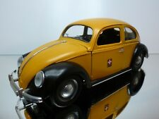 SOLIDO VW VOLKSWAGEN BEETLE 1949 SPLIT WINDOW - PTT SWISS  - YELLOW 1:18 - GOOD