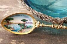 Dala Strada Di Posilipo Enamel 800 Silver Souvenir  Spoon 14 Grams